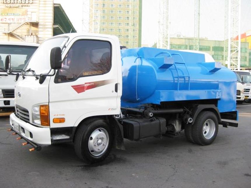 이마이티 2.5톤 살수차 3000탱크 살수구변완료 차량 2009년2월 15만 무사고 차량입니다.